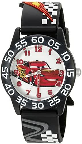 Disney Cars Kids' W002695 Cars Analog Display Analog Quartz Black Watch
